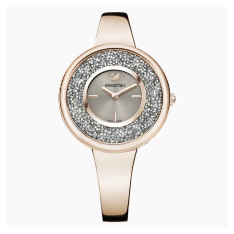 Zegarek Crystalline Pure, bransoleta z metalu, powłoka PVD w odcieniu szampańskiego złota Swarovski