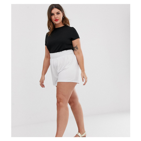 ASOS DESIGN Curve shorts with shirred waist