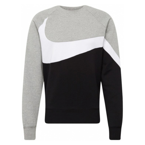 Nike Sportswear Bluzka sportowa szary / czarny / biały