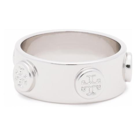 Pierścionek TORY BURCH - Logo Stud Ring 53362 Tory Silver 022