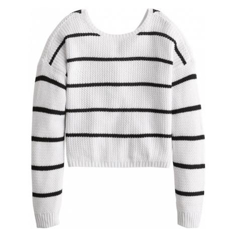 HOLLISTER Sweter biały / czarny