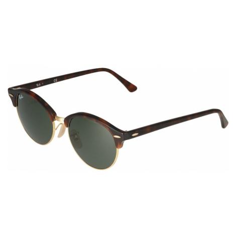 Ray-Ban Okulary przeciwsłoneczne 'Clubround' brązowy / ciemnobrązowy / nakrapiany zielony