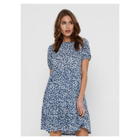 Only niebieski kwiecista sukienka