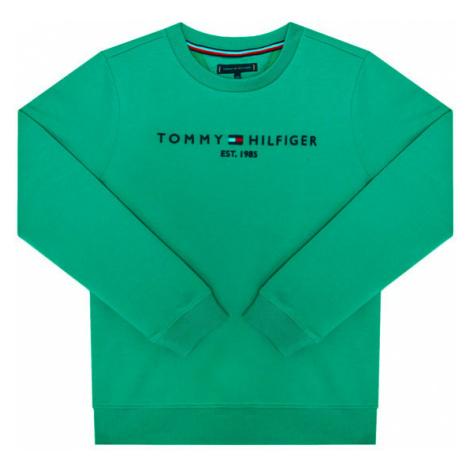 TOMMY HILFIGER Bluza Essential Cn KB0KB05797 Zielony Regular Fit