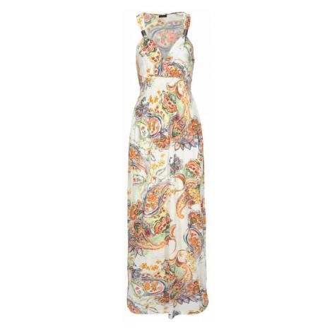LASCANA Sukienka plażowa jasnopomarańczowy / biały