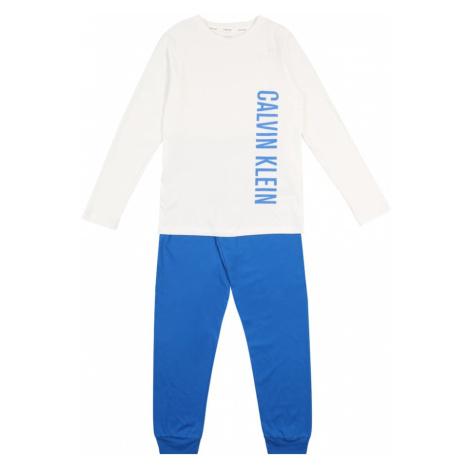 Calvin Klein Underwear Piżama niebieski / biały