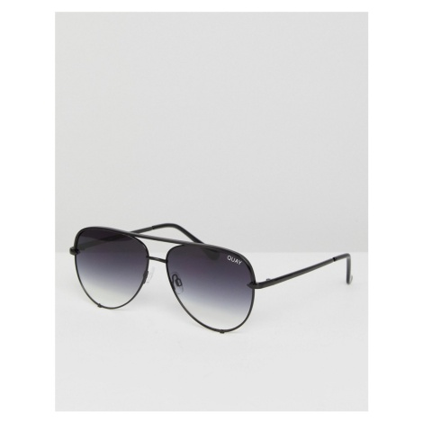Quay Australia x Desi High Key Mini aviator sunglasses in black fade