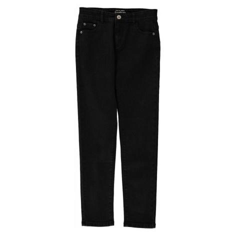 Czarne dziewczęce jeansy
