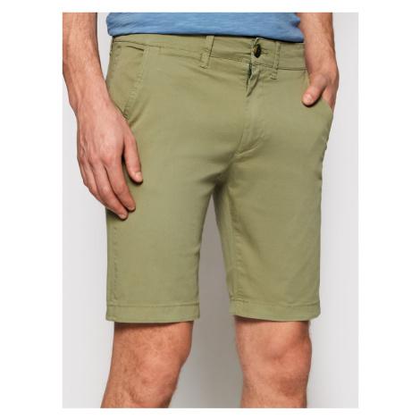 Pepe Jeans Szorty materiałowe Mc Queen PM800227 Zielony Regular Fit