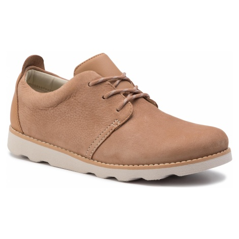 Półbuty CLARKS - Crown Park K 261405237 Tan Leather