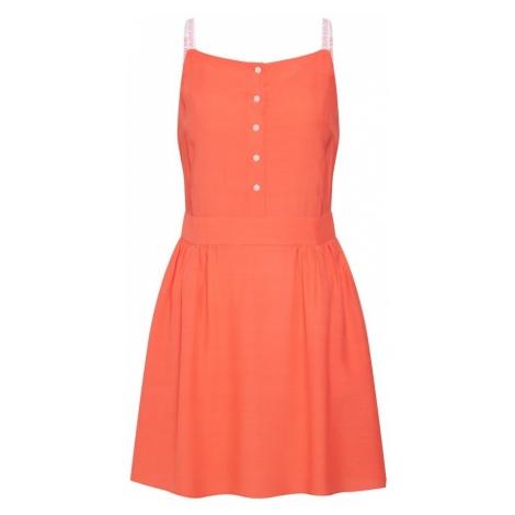 Calvin Klein Jeans Letnia sukienka 'LOGO STRAP' koralowy