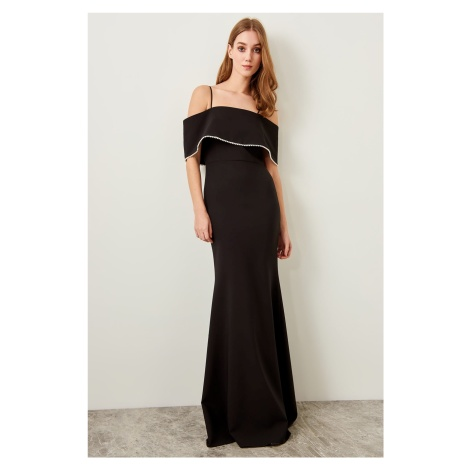 Trendyol Black Pearl Detailed Dress