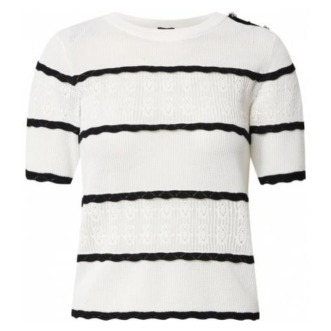 River Island Sweter biały / czarny