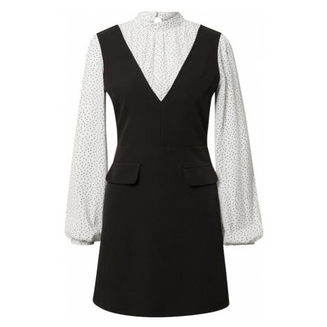 Miss Selfridge Sukienka '2 IN 1' czarny / biały