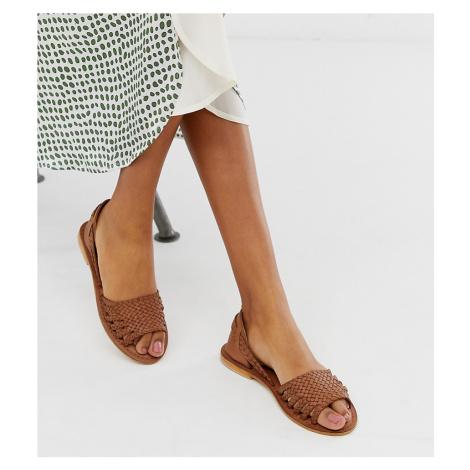 Warehouse plaited huarache sandals in tan