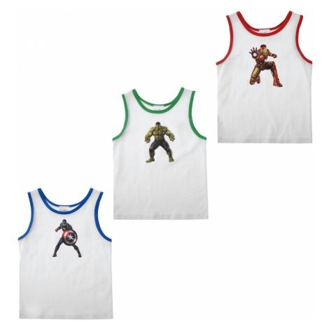 Character 3PK Vest Infants Unisex