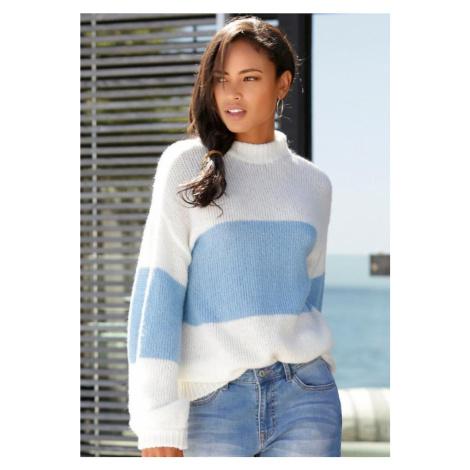 LASCANA Sweter jasnoniebieski / biały