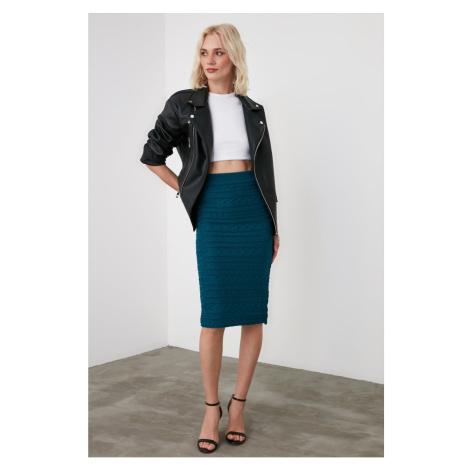 Trendyol Oil Mesh Detailed Knitwear Skirt