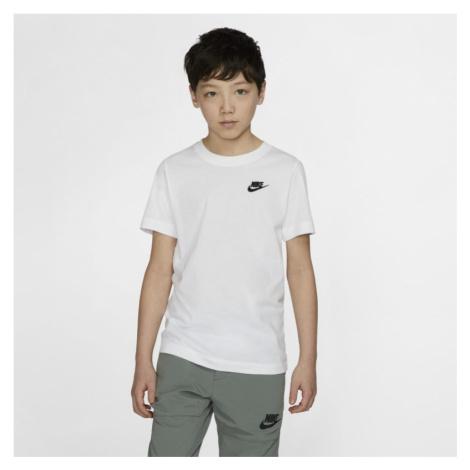 T-shirt dla dużych dzieci Nike Sportswear - Biel