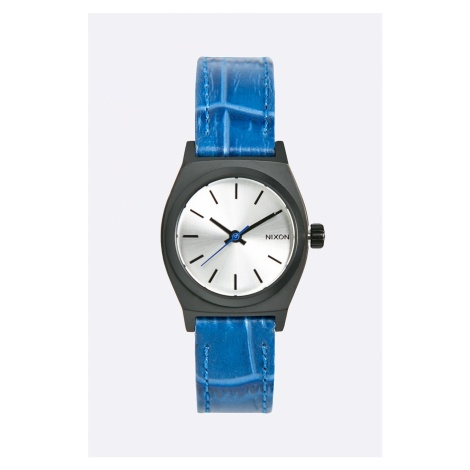 Nixon - Zegarek Small Time Teller Black/Blue Gator
