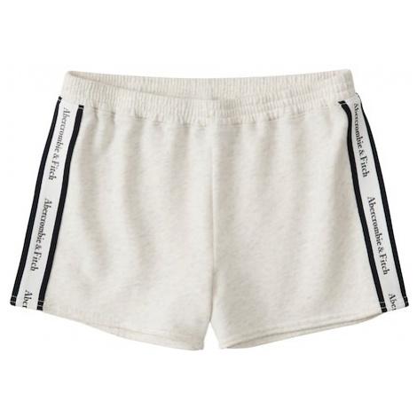 Abercrombie & Fitch Spodnie 'SB19-SPRING LOGO SHORT - LOGO TAPE' beżowy