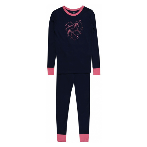 GAP Piżama 'UNICORN' niebieska noc / różowy