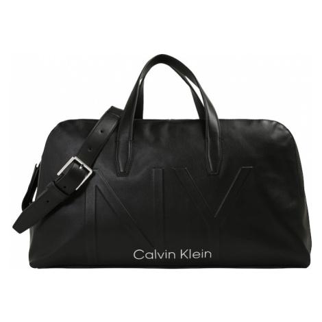 Calvin Klein Torba podróżna 'NY SHAPED LARGE DUFFLE' czarny