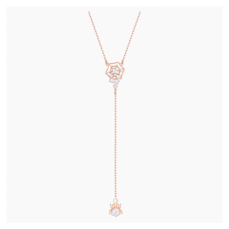 Naszyjnik w kształcie litery Y Precisely, biały, w odcieniu różowego złota Swarovski