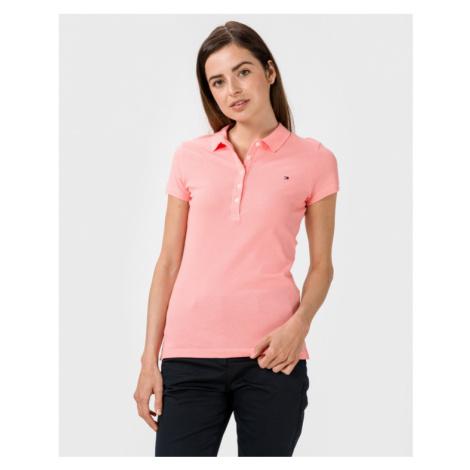 Tommy Hilfiger Polo Koszulka Różowy Beżowy