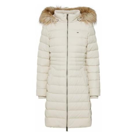 Tommy Jeans Płaszcz zimowy kremowy Tommy Hilfiger