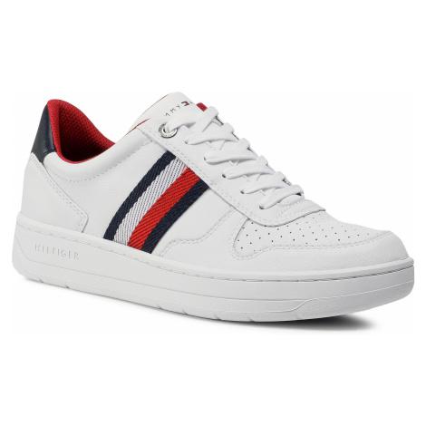 Sneakersy TOMMY HILFIGER - Basket Low Cupsole Sneaker FM0FM02993 White YBR