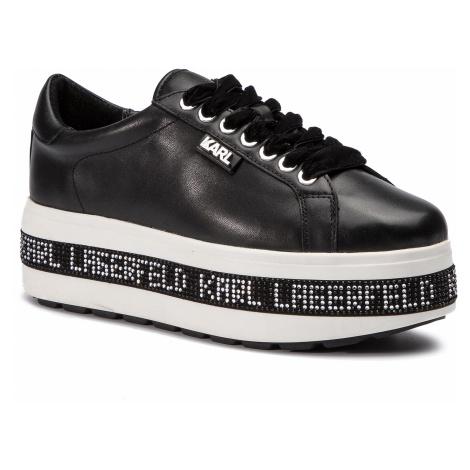 Sneakersy KARL LAGERFELD - KL61450 Black Lthr