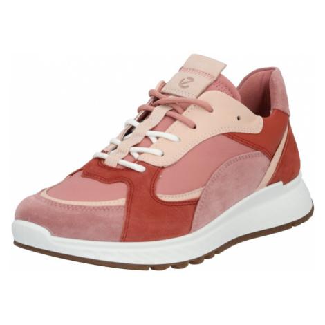 ECCO Trampki niskie czerwony / różowy pudrowy / beżowy