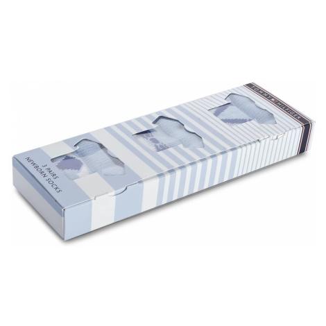 Zestaw 3 par wysokich skarpet dziecięcych TOMMY HILFIGER - 475007001 Baby Blue 397