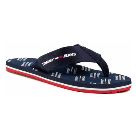 Tommy Jeans Japonki Print Beach Sandal EM0EM00451 Granatowy Tommy Hilfiger