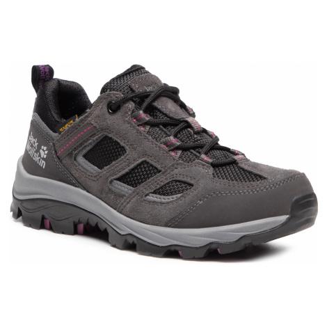Trekkingi JACK WOLFSKIN - Vojo 3 Texapore Low W 4042451 Dark Steel/Purple