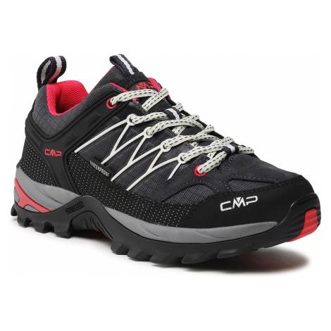 Trekkingi CMP - Rigel Low Wmn Trekking Shoe Wp 3Q54456 Antracite/Off White 76UC