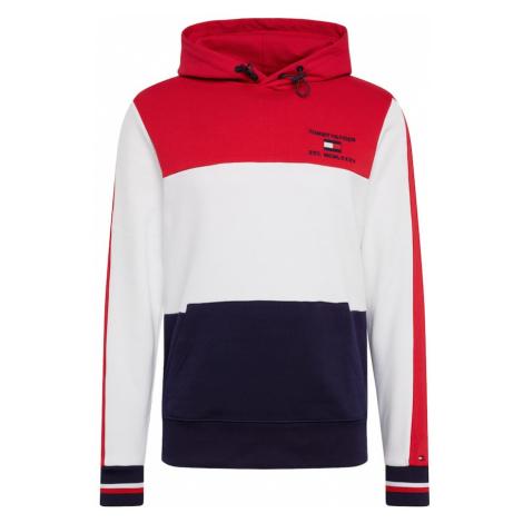 TOMMY HILFIGER Bluzka sportowa 'BRANDED COLOURBLOCK HOODY' czerwony / biały / ciemny niebieski