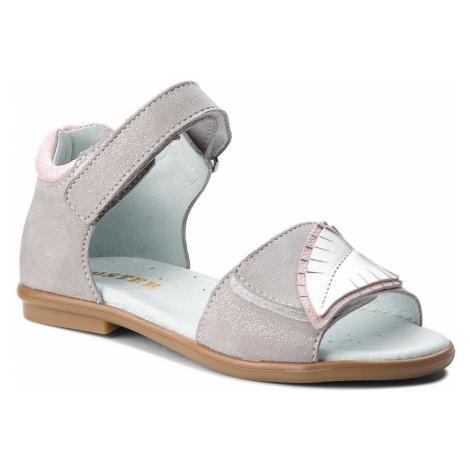Sandały MIDO - 41-07 Szary/Brokat