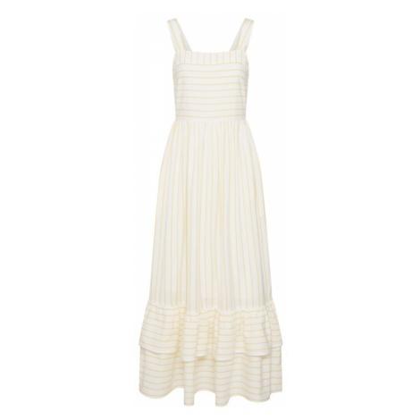 Y.A.S Letnia sukienka 'FINA' żółty / biały