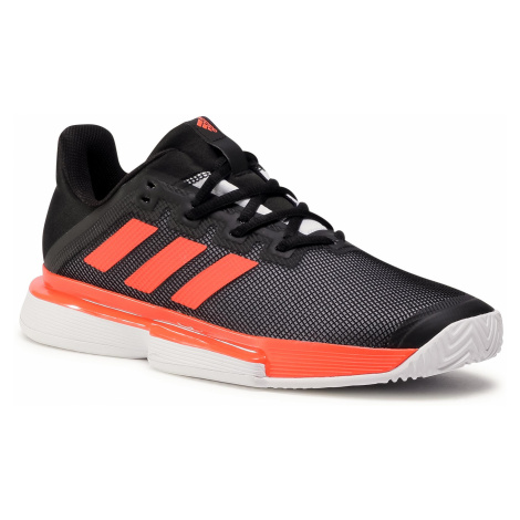 Buty adidas - SoleCourt M FU8117 Core Black/Solor Red/Cloud White