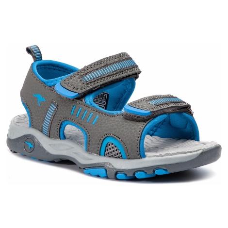 Sandały KANGAROOS - K-Logan 18338 000 2098 S Steel Grey/Blue