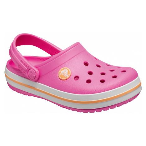 Crocs Buty otwarte 'Crocband' biały / żółty / różowy