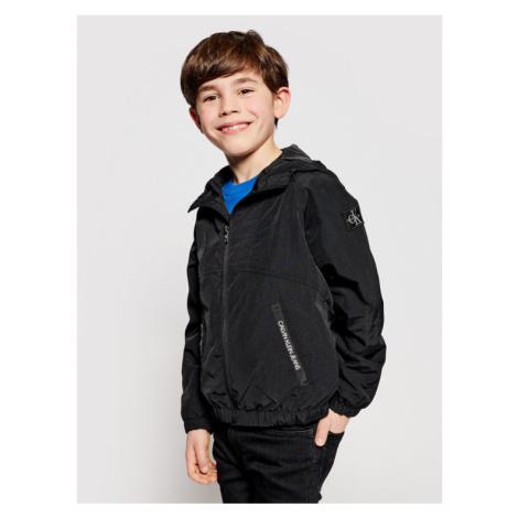 Calvin Klein Jeans Kurtka przejściowa Monogram Badge IB0IB00856 Czarny Regular Fit