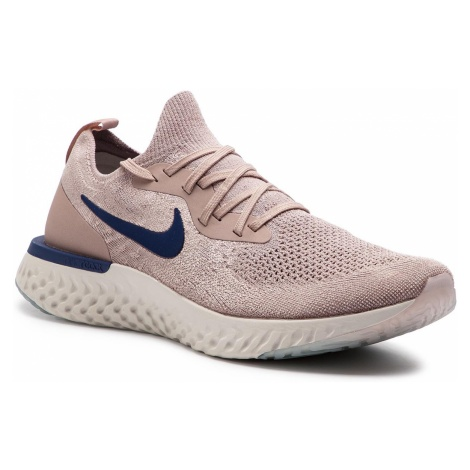 Buty NIKE - Epic React Flyknit AQ0067 201 Diffused Taupe/Blue Void