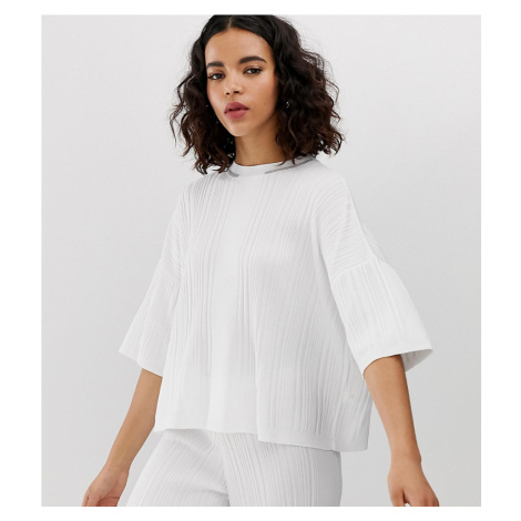 River Island oversized tee in white