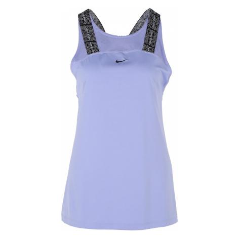 NIKE Koszulka funkcyjna czarny / liliowy