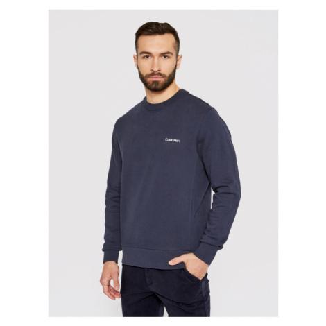 Calvin Klein Bluza Small Chest Logo K10K107031 Granatowy Regular Fit