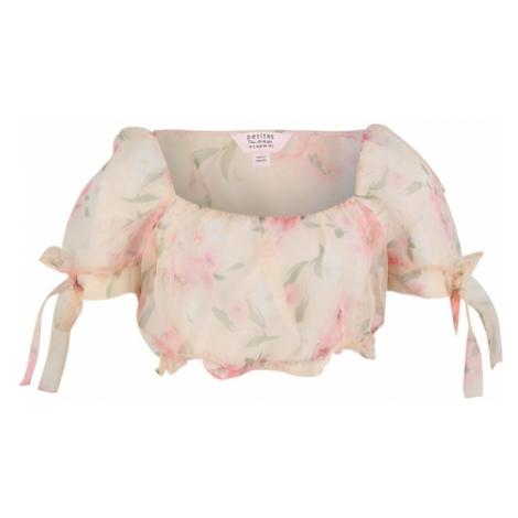 Miss Selfridge (Petite) Koszulka kremowy / różowy pudrowy / zielony