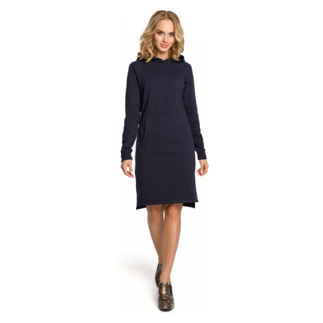 Made Of Emotion Woman's Dress M329 Navy Blue